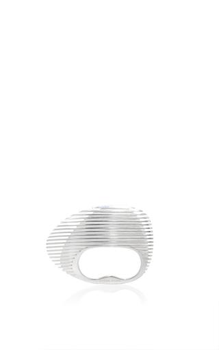 Lamellae Double Ring In Silver by GEORG JENSEN X ZAHA HADID for Preorder on Moda Operandi
