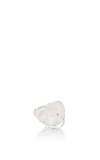 Lamellae Ring I In Silver by GEORG JENSEN X ZAHA HADID for Preorder on Moda Operandi