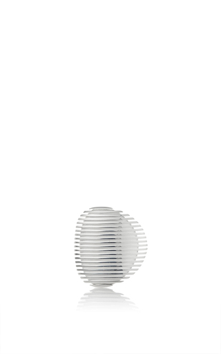 Medium georg jensen x zaha hadid silver lamellae ring i in silver