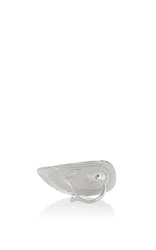 Lamellae Ring Ii In Silver by GEORG JENSEN X ZAHA HADID for Preorder on Moda Operandi
