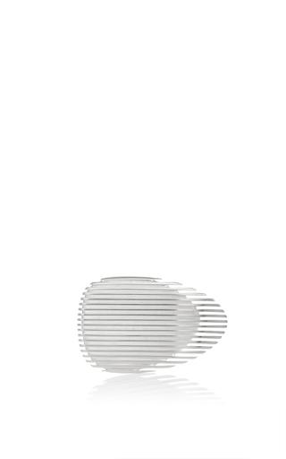 Medium georg jensen x zaha hadid silver lamellae ring ii in silver