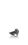 Lamellae Open Ring In Black Rhodium by GEORG JENSEN X ZAHA HADID for Preorder on Moda Operandi