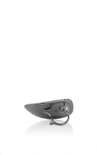 Lamellae Ring Ii In Black Rhodium by GEORG JENSEN X ZAHA HADID for Preorder on Moda Operandi