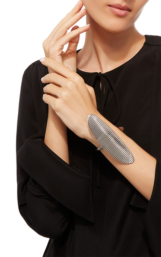 Lamellae Small Cuff In Black Rhodium by GEORG JENSEN X ZAHA HADID for Preorder on Moda Operandi