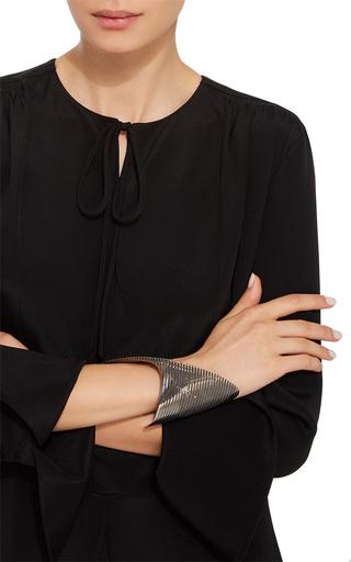 Lamellae Cuff In Black Rhodium by GEORG JENSEN X ZAHA HADID for Preorder on Moda Operandi