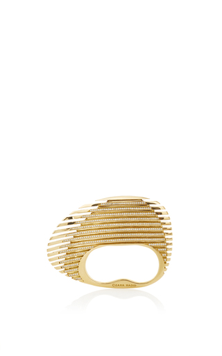 Medium georg jensen x zaha hadid gold lamellae ring in yellow gold