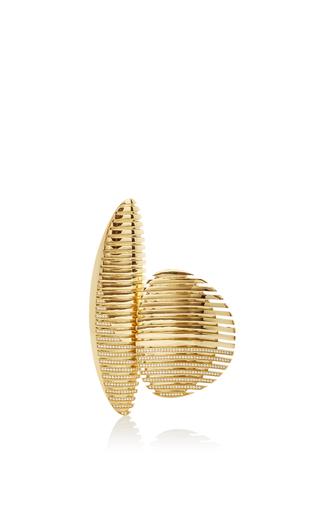 Lamellae Open Ring In Yellow Gold by GEORG JENSEN X ZAHA HADID for Preorder on Moda Operandi