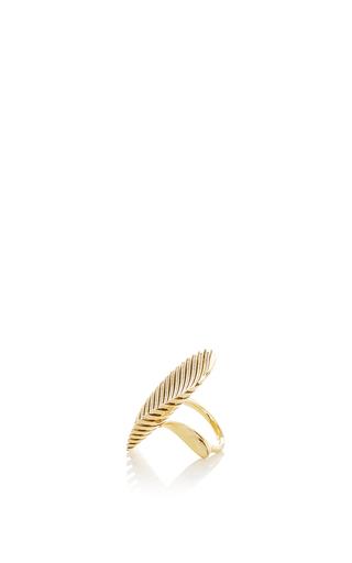 Lamellae Ring I In Yellow Gold by GEORG JENSEN X ZAHA HADID for Preorder on Moda Operandi