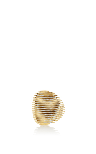Medium georg jensen x zaha hadid gold lamellae ring i in yellow gold