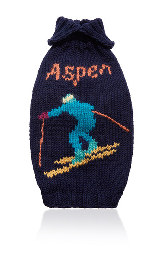 Medium travels with tiger navy aspen dog sweater