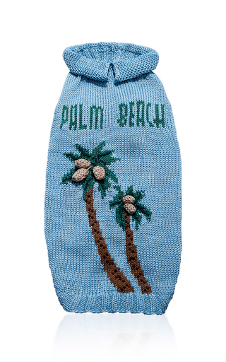 Medium travels with tiger green palm beach dog sweater