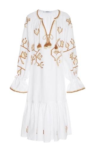 Medium march11 white embroidered linen dress
