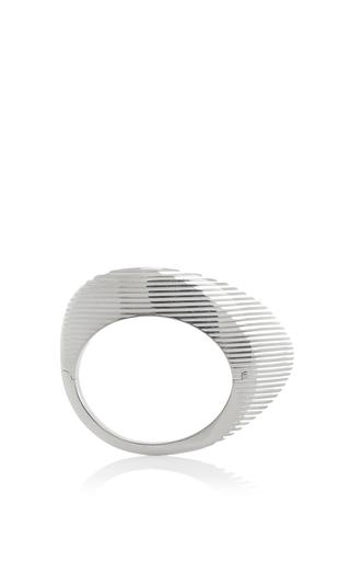 Lamellae Bangle In Silver by GEORG JENSEN X ZAHA HADID for Preorder on Moda Operandi