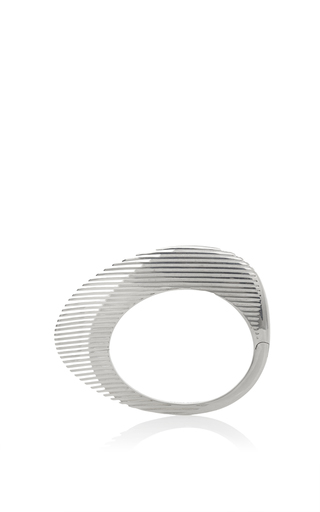 Medium georg jensen x zaha hadid silver lamellae bangle in silver 2
