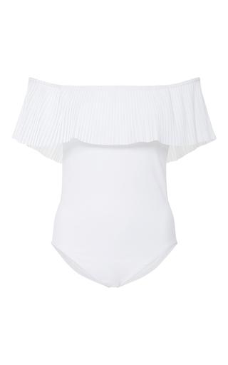 Medium karla colletto white josephine off the shoulder one piece