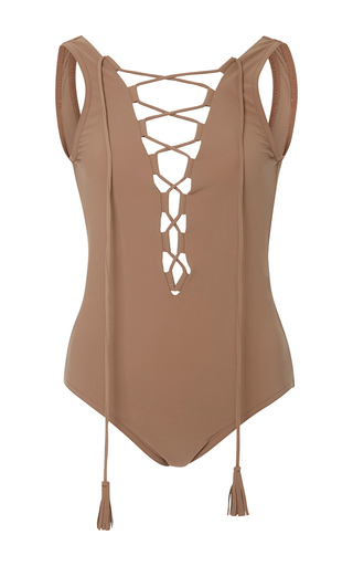 Medium karla colletto nude entwined lace up one piece