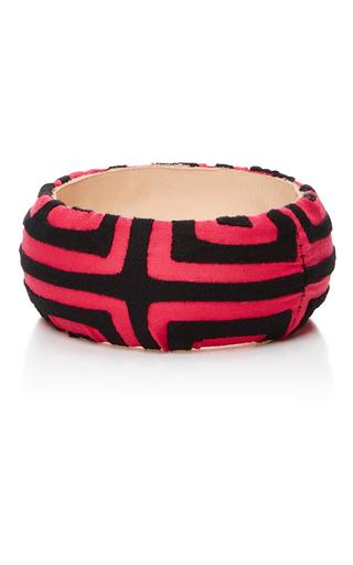 Medium mola sasa pink pink and black printed bangle