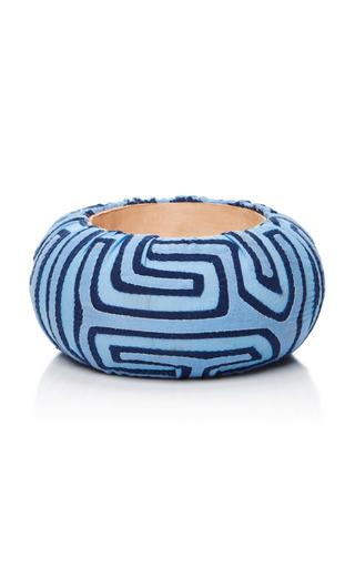 Medium mola sasa blue blue cuff bangle