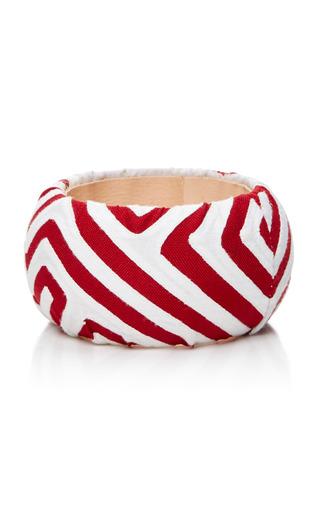 Medium mola sasa red red and white printed bangle