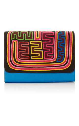 Medium mola sasa multi carnival clutch