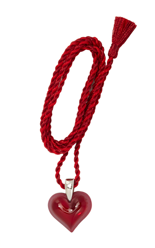 Medium lalique red amoureuse beacoup pendant 3