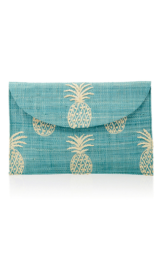 Medium kayu blue pina envelope clutch