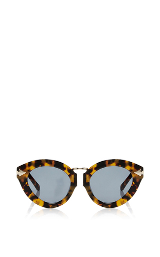 Medium karen walker brown lunar flowerpatch sunglasses