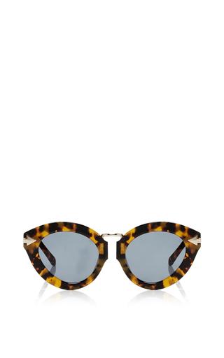 Medium karen walker brown lunar flowerpatch sunglasses