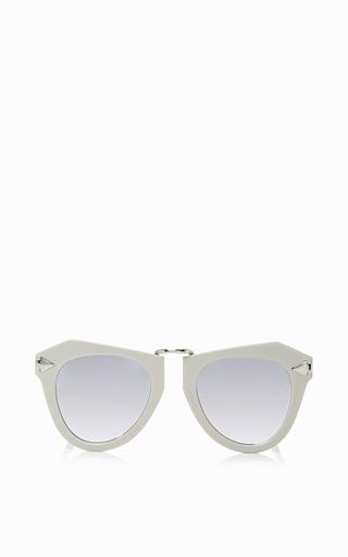 Medium karen walker light grey one orbit sunglasses