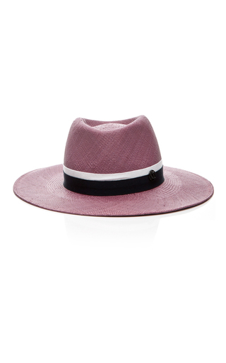 Medium maison michel pink chic panama charles