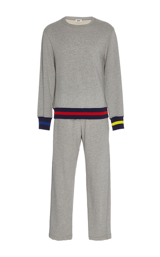 Medium sleepy jones light grey gillian pajama set