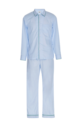 Medium sleepy jones blue end on end pajama set