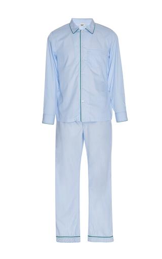 Medium sleepy jones blue end on end pajama set