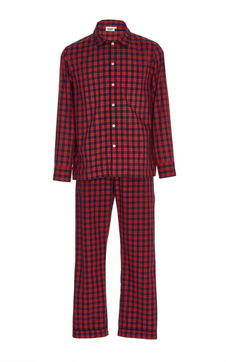 Medium sleepy jones plaid washed plaid pajama set