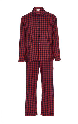 Medium sleepy jones plaid washed plaid pajama set