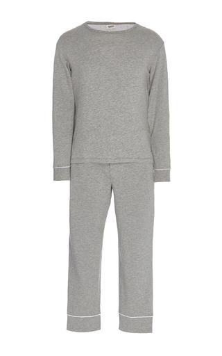 Medium sleepy jones light grey heather jersey pajama set