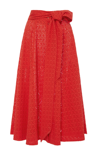 Medium lisa marie fernandez red high waist eyelet beach skirt