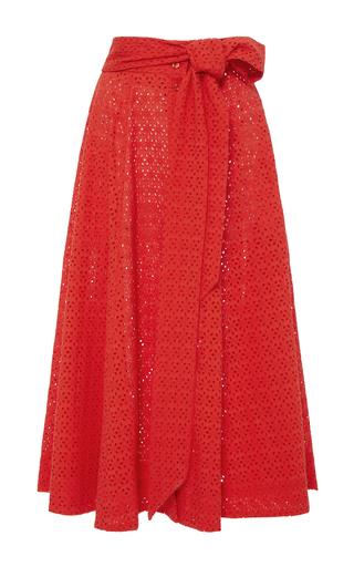 Medium lisa marie fernandez red high waist eyelet beach skirt