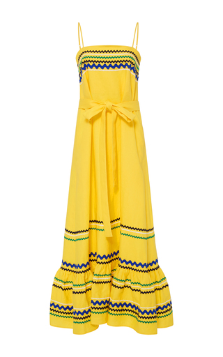 Medium lisa marie fernandez yellow long tiered spaghetti strap dress