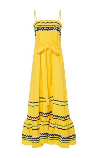 Medium lisa marie fernandez yellow long tiered spaghetti strap dress