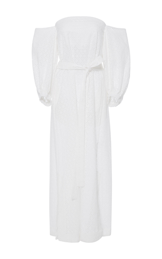 Medium lisa marie fernandez white off the shoulder eyelet dress