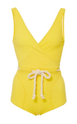 Medium lisa marie fernandez yellow yasmin drawstring one piece