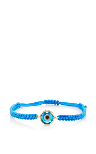 Medium elena votsi light blue light blue evil eye single strand cord bracelet light blue