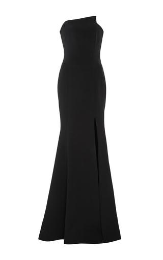 Medium romona keveza black silk crepe mermaid gown