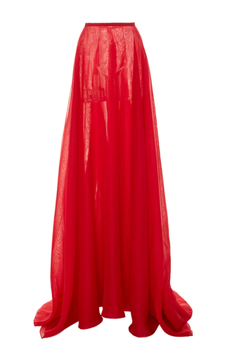 Medium romona keveza red organza over skirt
