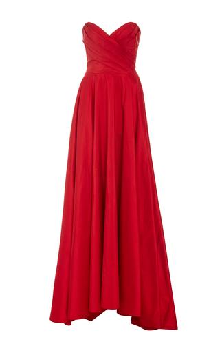 Medium romona keveza red strapless sweetheart ball gown