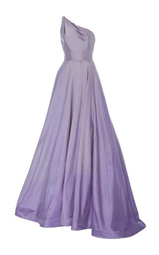 Medium romona keveza purple one shoulder silk ball gown