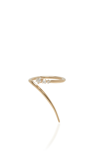 Medium jade trau gold 14k yellow gold wrap ring