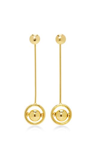 Medium laura davila gold kyla earrings