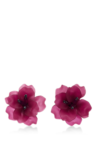 Medium matthew melka purple m o exclusive fleur de lis earrings in purple